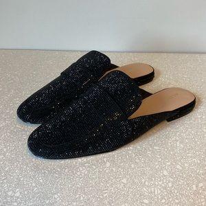 Aldo Black Sparkly Mules Size 11
